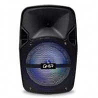 "Bafle GHIA amplificado recargable 8"" 2800W PMPO BT/ USB/ MICRO SD/ AUX IN/ MIC"