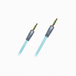 Cable de audio 3.5mm Perfect Choice gris/azul