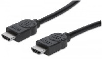 Cable HDMI alta velocidad c/canal Ethernet M-M blindado 2m negro