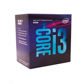 CPU Intel Core I3-8100 S-1151 8A GEN 3.6 GHZ 6MB 4 Cores graficos 350 MHZ