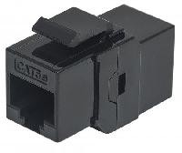 Cople Intellinet RJ45 a RJ45 Cat 6 keystone negro hembra