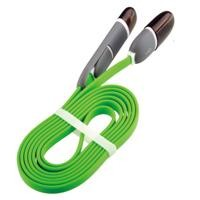 Cable 2 en 1 micro usb/lightning GHIA 1.0m usb verde/gris
