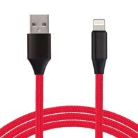 Cable lighting GHIA 1.0m USB cargador negro/rojo