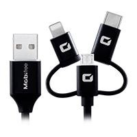 Cable TPE all in one USB micro usb lightning Tipo C Mmobifree negro