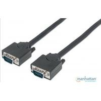 Cable VGA Manhattan 1.8M negro M-M