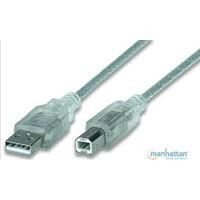 Cable USB 2.0 Manhattan A-B 4.5 plata