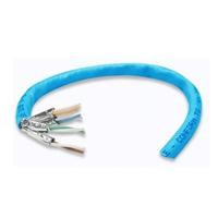 Bobina de cable RJ45 Intellinet Cat 6 CCA Solida azul 305 mts