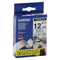 Cinta Brother TZEFX231 flexible negro 12MM