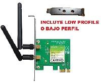 Tarjeta de red PCI express Tp-link inalambrica 300mbps 2 ant