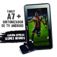 Bundle Tablet GHIA A7 WIFI/QUAD CORE/1GB8GB/2CAM/WIFI/BT/Sintonizador básico de TV GHIA para android