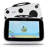 "Tablet GHIA Kids 7""/QUAD CORE/1GB/8GB/2CAM/WIFI/BT/catarina blanca c/negro"