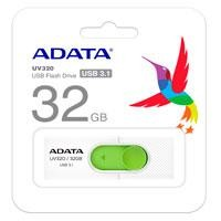 Memoria Adata 32GB USB UV320 retráctil blanco-verde