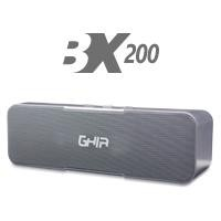 Bocina bluetooth BX200G GHIA gris Aux/Radio/SD Card/USB