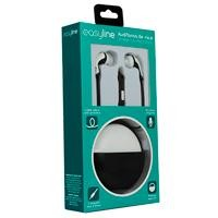 Audifonos in-ear c/microfono Easy Line black/white