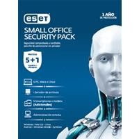 Eset Small Office Security 5 Pc + 5 Smartphone + 1 server + consola, 1 año