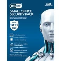 Eset Small Office Security PACK, 10 PCS + 5 Smartphone + I server + consola, 1 año