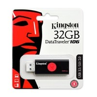 Memoria Kingston 32GB USB 3.0 Datatraveler 106 negro/rojo